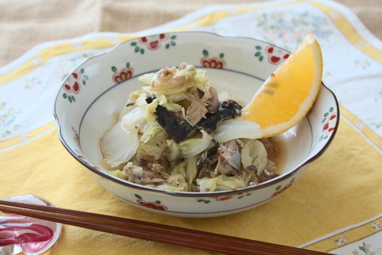 03_ハクサイとサバのバターしょうゆ蒸し (福島)